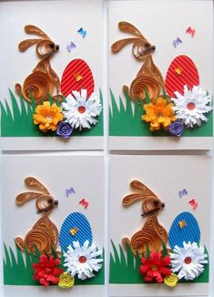 Quilling Paper Craft, Paper Quilling, Paper Crafts, Easter Card, Class Room, Handmade Crafts, Rooster, Crafts For Kids, Scrapbook