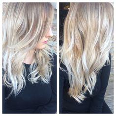 Ashy Blond baylage/ombré