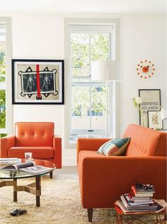 Living Room Ideas Orange Sofa i love the couch and cushions but i'd change the rug to a dark