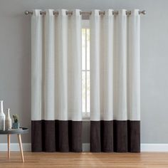 Mainstays Joselyn Linen Velvet Grommet Top Curtain Panel, Brown