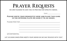 prayer request templates Free Printable Prayer Request Forms | ladies ministry | Pinterest ...