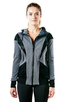 Michi Blade Hoodie - Grey – There is nothing more versatile than a grey designer hoodie. The new Michi Blade Hoodie in Grey is stylish and cozy. The luxury knit fabric and faux leather inserts makes this activewear jacket stylish enough to wear in and out of the gym. Throw on your favorite pair of Michi leggings, or throw it over a basic tee and jeans while you're on your way to do those errands. Give us one reason why you shouldn't add it to your cart. #hoodies