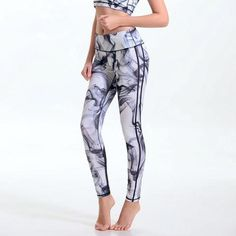 Women Printing Yoga Pants  This women printing yoga pants is made of polyester and spandex. Its fabric type is broadcloth and its closure is elastic waist and is quick-dry. It fits true to size. Hence, please choose your normal size. Thanks.  Note: Please allow 2 to 4 weeks for delivery.