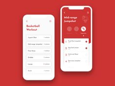 Daily UI 041 - Workout tracker designed by Willy Tseng. Connect with them on Dribbble; Ios App Design, Basketball Workouts, Daily Ui, Mobile Ui, Fitness Tracker, Iphone, Modern