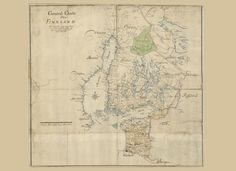 Finland 1712 – Historical poster Finland, Vintage World Maps, Prints, Poster, Billboard