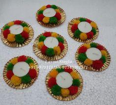 Diwali Decorations At Home, Candle Decorations, Diwali Diya, Diwali Craft, Lantern Crafts, Mason Jar Candle Holders, Packing Hacks, Cd Art, Flower Rangoli