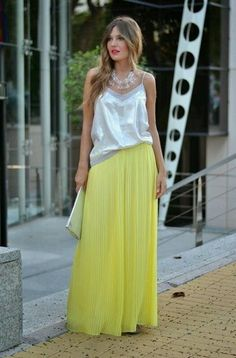 ZARA BLOGGERS YELLOW SUMMER LOOSE PLEATED PALAZZO TROUSERS SIZE L Large in Kleidung & Accessoires | eBay