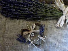 Witch Kitchen Lavender heart . Rowan Duxbury Original Designs.