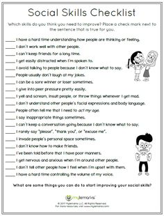 Use this worksheet to help kids identify the social skills they feel they need to improve on! This is taken from the Social Skills Workbook available at www.mylemarks.com. #socialskills #copingskills #friendships #socialemotional #mylemarks