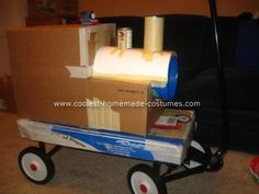 Homemade Thomas the Train Costume: I got the idea for this homemade Thomas the Train costume from a combination of ideas I had found on this site and also from Google images.    I basically