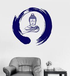 Vinyl Wall Decal Zen Circle Buddha Buddhism Meditation Stickers (ig3036)