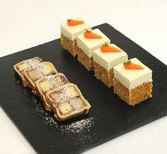 Carrot cake presentation