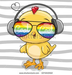 Cute Chicken with sun glasses. Cool Cartoon Cute Chicken with sun glasses vector illustration Cartoon Cartoon, Kitten Cartoon, Cartoon Monkey, Cute Cartoon Girl, Cute Hippo, Cute Lion, Cartoon Mignon, Chicken Drawing, Cartoon Chicken