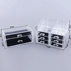 Acrylic Makeup Organizer Storage Case Stackable Makeup Tools