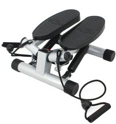 Sunny Health & Fitness Twisting Stair Stepper with Band, Silver - http://fitness-super-market.com/?product=sunny-health-fitness-twisting-stair-stepper-with-band-silver