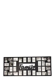 """This multi photo frame is a simple yet stylish way to accentuate your favourite photo memories. Displays 28 10x15cm photographs.<div class=""""pdpDescContent""""><BR /><b class=""""pdpDesc"""">Dimensions:</b><BR />L143xW2xH57 cm</div>"""