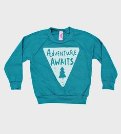 Adventure Awaits Toddler Raglan Pullover by Strawberry Moth on Scoutmob Shoppe