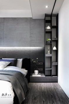 Trendy bedroom black and white gray Ideas Master Bedroom Design, Home Bedroom, Bedroom Decor, Bedroom Ideas, Bed Ideas, Decor Ideas, Master Room, Nursery Ideas, Trendy Bedroom