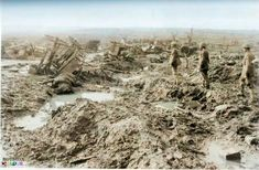 The Passchendaele campaign cost the British Army about a quarter-million casualties in 3 months! It was truly a living inferno, nearly as bad as Verdun.
