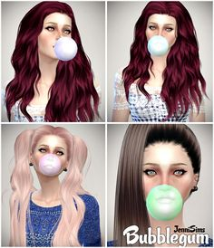 Jennisims: Downloads sims 4: Largest BubbleGum Male /Female (Adult,Teen,Young Adult)
