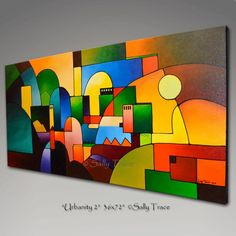 """Extra Large Wall Art, Giclée Painting Print from the Original Abstract Painting, Geometric Print Wall Art """"Urbanity - Extra Large fresque Art abstrait peinture abstraite peinture Abstract Geometric Art, Abstract Canvas, Acrylic Painting Canvas, Painting Prints, Canvas Art, Cubist Art, Modern Art Paintings, Extra Large Wall Art, Wall Art Prints"""