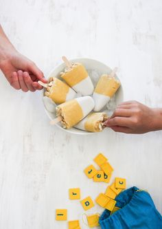 """These kid-friendly dairy-free Mango Macadamia """"Weis"""" Bars are perfect the hot summer days - I Quit Sugar"""