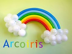 Como hacer un arcoiris con globos para decoraciones My little pony # 21 - YouTube