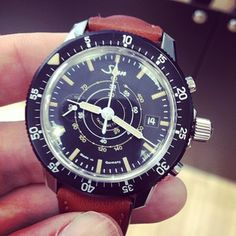 Really like this very special 'calculator' by @sinnfrankfurt. The Sinn 103 Chronograph with vintage Iume! #watches