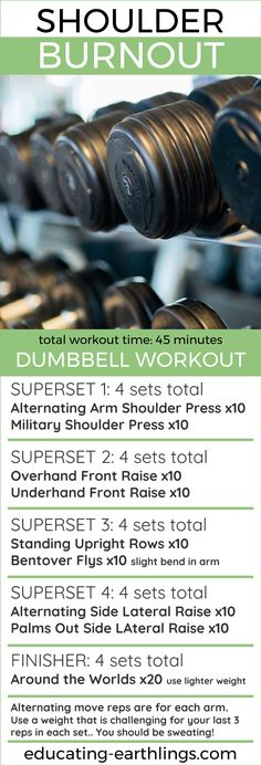 Shoulder Burnout - Dumbbell Workout, women's fitness, at home workout, strength training, weight lifting for women, weight training, weightlifting workout, vegan fitness, online personal training, free workouts | Posted By: AdvancedWeightLossTips.com