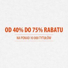 Książkomania trwa! Tylko dla Was zwiększamy rabat na książki z naszej oferty. Jest książkowo, że ho ho, bo aż -75%! Na pewno każdy znajdzie coś dla siebie :) Korzystajcie! 👉 http://bit.ly/2dJ6bsQ