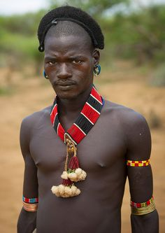 Mr Kapa, Hamer Tribe Man, Turmi, Omo Valley, Ethiopia |© Eric Lafforgue