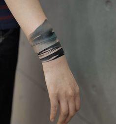 painterly tattoo on wrist, beautiful