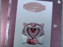 3D Glückwunschkarte / Karte zur Hochzeit