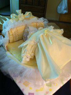 Diaper bassinet and baby