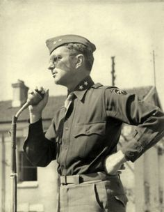 General William Miley at Rambervillers, France after VE Day