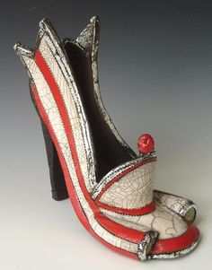 Fashion Emergency Shoe by Joanne Bedient Weird Fashion, Fashion Shoes, Ceramic Shoes, Muses Shoes, Fairy Shoes, Paper Shoes, Creative Shoes, Crazy Shoes, Wierd Shoes