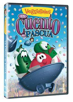 Diseño publicitario de DVD's - Stop Diseño Gráfico - Diseño de Un cuento de Pascua - VeggieTales - Big Idea.
