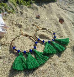 We are in love with tassels!  #bohemian #medusa #bohoearrings #hoops #handmade #handmadejewelry #gypsyjewelry #gypsylife #statementjewelry #boholife #bohochic #beachjewelry #greece #greekislands #gypsy #nature #crystals #beadedjewelry #freespirit #mermaid #handmadewithlove #gift #earrings #seashell #summeriscoming #summertime #tasselearrings