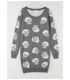 Skull sweater dress.
