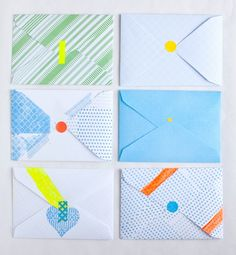 Handmade envelopes by @Leslie Shewring for Color Me Pretty by decor8, via Flickr