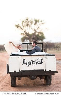 Bushveld wedding car
