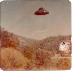 This UFO picture was discovered by a man when he was clearing out his parent's belongings after they died. Description from forums.sgclub.com. I searched for this on bing.com/images