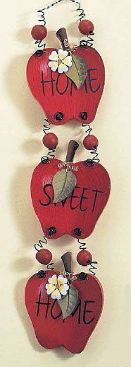 Home Decor Accessories - Apple Themed - Tin Signs - Wooden Wall Decor Apple Kitchen Decor, Kitchen Themes, Kitchen Ideas, Home Decor Accessories, Decorative Accessories, Fall Crafts, Diy And Crafts, Apple Art, Red Apple