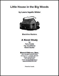 2053.03-BLMLH Little House in the Big Woods (by Laura Ingalls Wilder) Blackline Masters*