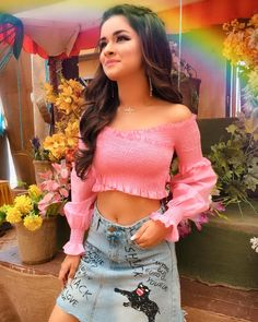 """Once in a while, Right in the middle of an ordinary life. Love gives us a fairy tale.❤️ Wearing this beautiful """"Blooming Crop Top"""" from… Stylish Girl Images, Stylish Girl Pic, Stylish Kids, Girl Photo Poses, Girl Photography Poses, Beautiful Girl Image, The Most Beautiful Girl, Cute Girl Outfits, Cute Summer Outfits"""