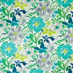 The G8025 Turquoise upholstery fabric by KOVI Fabrics features Floral pattern and Teal as its colors. It is a Print, Cotton type of upholstery fabric and it is made of 100% Cotton material. It is rated Exceeds 50,000 double rubs (heavy duty) which makes this upholstery fabric ideal for residential, commercial and hospitality upholstery projects. This upholstery fabric is 54 inches wide and is sold by the yard in 0.25 yard increments or by the roll. Call or contact us if you need any help…