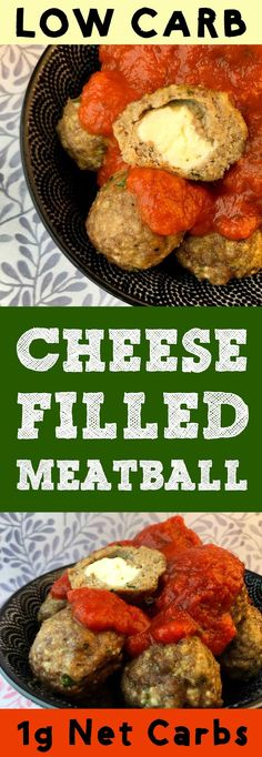 These low carb cheese filled meatballs are the bomb. They're Atkins, Banting, THM, LCHF, Keto, Sugar Free and Gluten Free. #Lowcarb #lowcarbdiet #keto #ketogenic #LCHF #diet #best #glutenfree #healthy