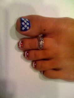 "<3 ""Fourth Of July"" Nails <3"