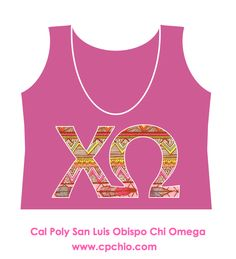 Cal Poly Chi Omega sorority crop top! SOOO Cute, I wanttt!