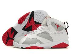 www.airjordanchau... Only75,00€ AIR #JORDAN #RETRO 7 VII BLANC/ROUGE Free Shipping!